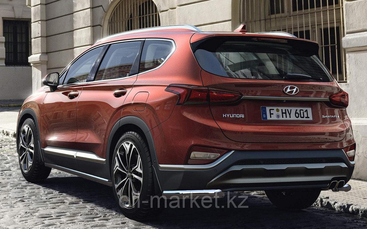 Защита заднего бампера, уголки для Hyundai Santa Fe ( 2018-)