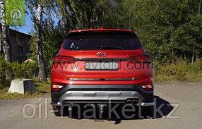 Защита заднего бампера, уголки для Hyundai Santa Fe ( 2018-), фото 2