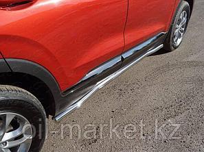 Пороги труба, круглая для Hyundai Santa Fe ( 2018-), фото 2