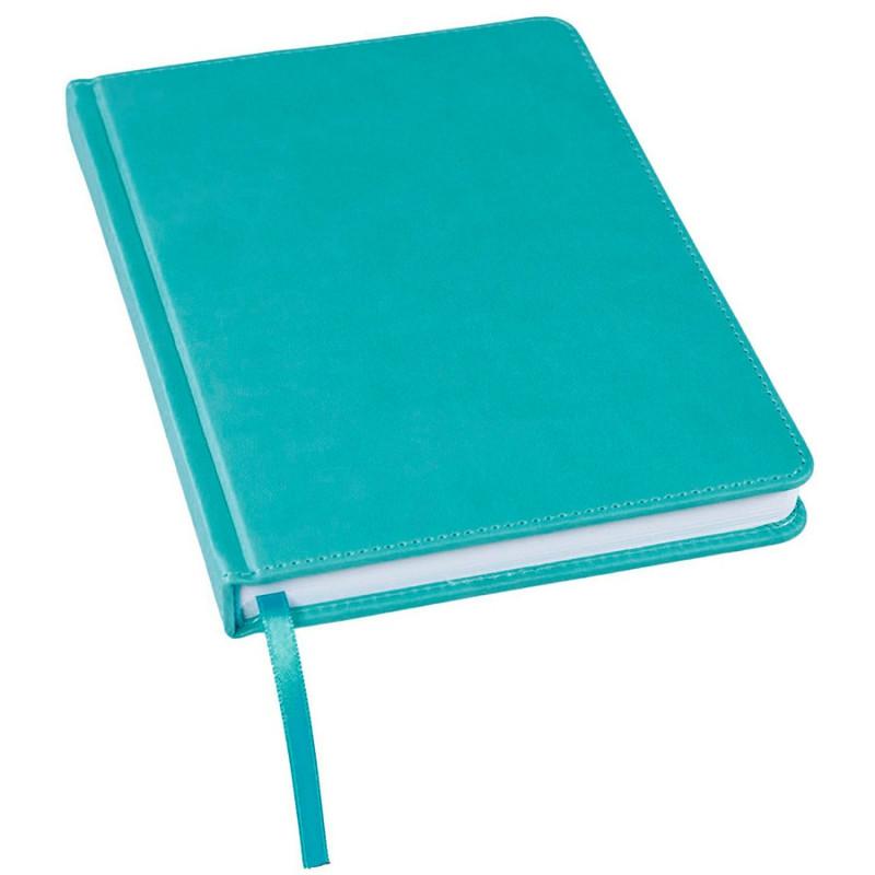 Ежедневник недатированный Bliss, А5,  бирюзовый, белый блок, без обреза, Бирюзовый, -, 24601 07