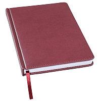 Ежедневник недатированный Bliss, А5,  бордовый, белый блок, без обреза, Бордовый, -, 24601 13