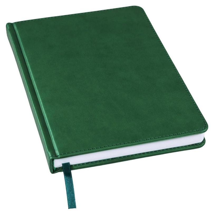 Ежедневник недатированный Bliss, А5,  темно-зеленый, белый блок, без обреза, Зеленый, -, 24601 17