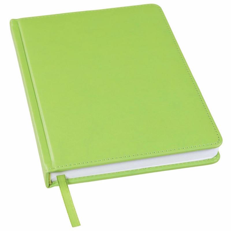 Ежедневник недатированный Bliss, А5,  зеленое яблоко, белый блок, без обреза, Зеленый, -, 24601 27