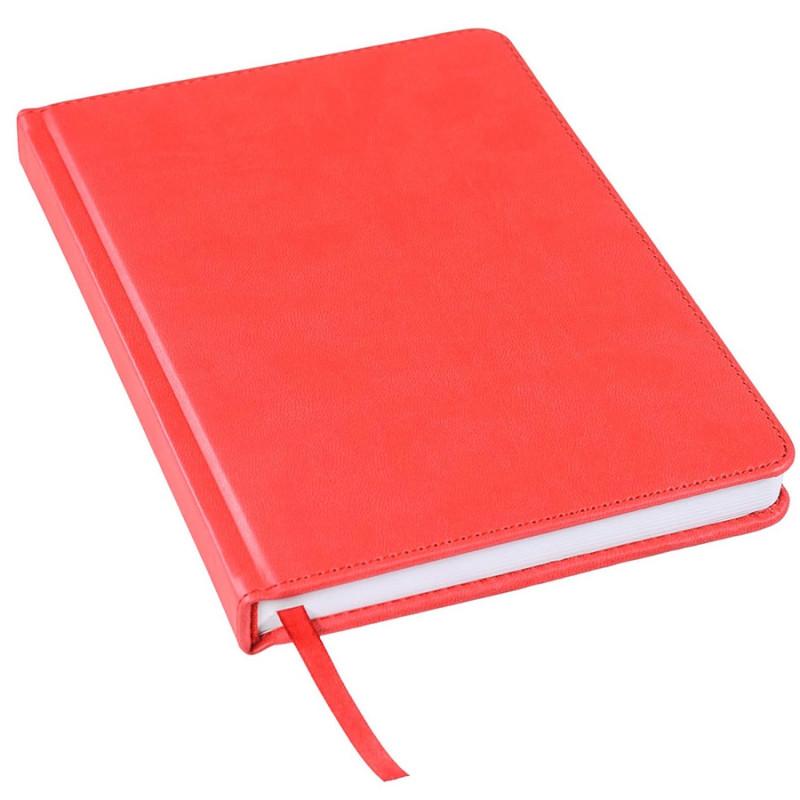 Ежедневник недатированный Bliss, А5,  красный, белый блок, без обреза, Красный, -, 24601 08