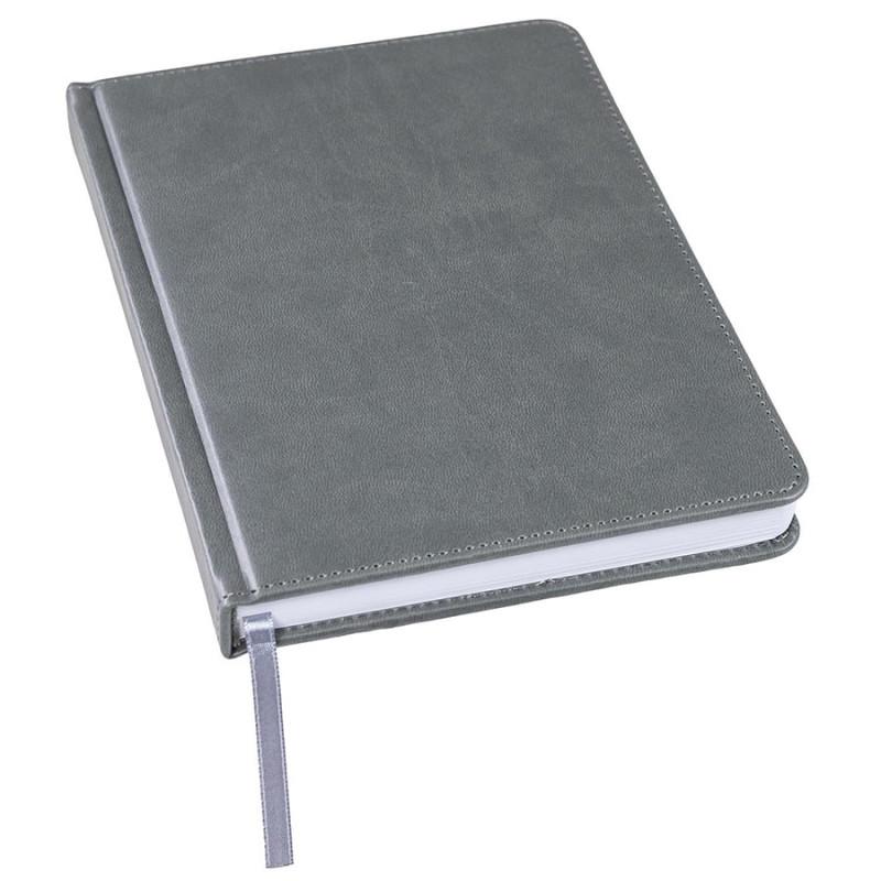 Ежедневник недатированный Bliss, А5,  темно-серый, белый блок, без обреза, Серый, -, 24601 30
