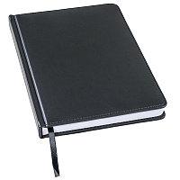 Ежедневник недатированный Bliss, А5,  черный, белый блок, без обреза, Черный, -, 24601 35