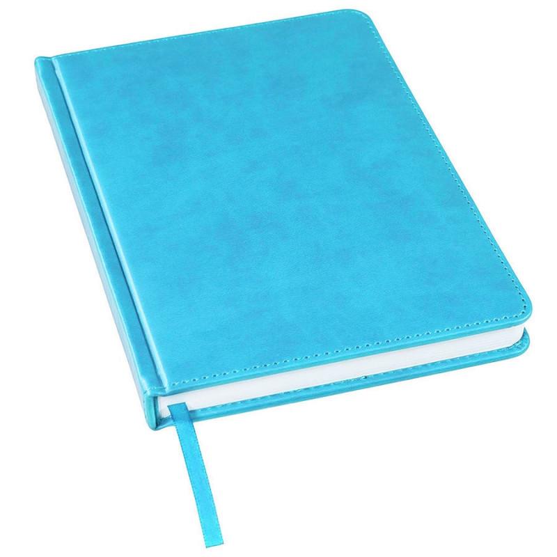 Ежедневник недатированный Bliss, А5,  голубой, белый блок, без обреза, Голубой, -, 24601 21