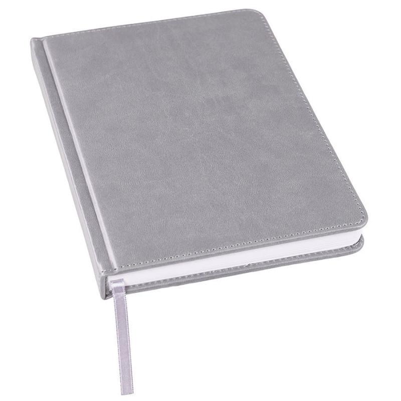 Ежедневник недатированный Bliss, А5,  серый, белый блок, без обреза, Серый, -, 24601 29