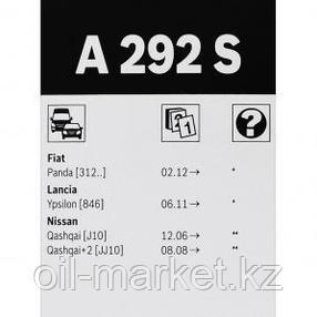 BOSCH Комплект стеклоочистителей Aerotwin 600/380mm (A 292 S)  Nissan Qasqhai all 07> , фото 2