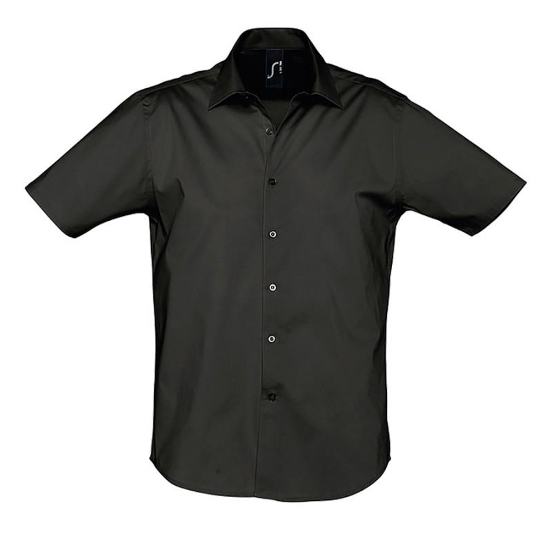 Рубашка мужская BROADWAY 140, Черный, S, 717030.312 S