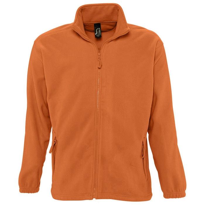 Толстовка мужская флисовая NORTH MEN 300, Оранжевый, S, 755000.400 S
