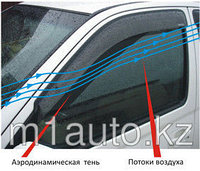 Ветровики/Дефлекторы боковых окон на Nissan Navara/Ниссан Навара 2005 - 2012, фото 1