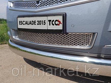 Защита переднего бампера, овальная для Cadillac Escalade ( 2015-), фото 2