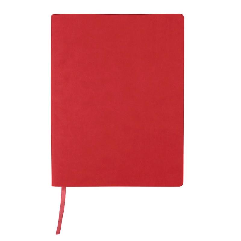 """Бизнес-блокнот """"Biggy"""", B5 формат, красный, серый форзац, мягкая обложка, в клетку, Красный, -, 21218 08 30"""