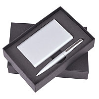 """Набор """"Mirror"""": универсальное зарядное устройство (6000мАh) и ручка, Серебро, -, 1110 47, фото 1"""
