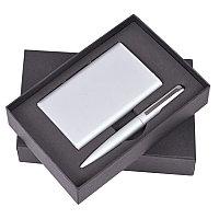 """Набор """"Mirror"""": универсальное зарядное устройство (6000мАh) и ручка, Серебро, -, 1110 47"""