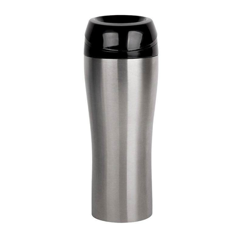 Термокружка вакуумная CLICK, 400 мл, Серебро, -, 46000 47