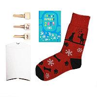 """Носки подарочные """"Счастливый год"""" в упаковке, Черный, -, 25203 4"""