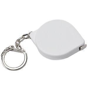 """Брелок-рулетка  """"Капля"""" на карабине (1 м), Белый, -, 7304 КАР"""