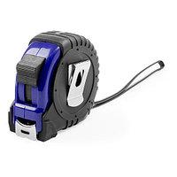 Рулетка GRADE с металлическим клипом 5 м., синяя, пластик, Черный, -, 344643 24