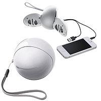 Портативные аудио колонки для смартфона, Белый, -, 15507 01