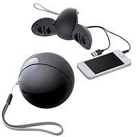 Портативные аудио колонки для смартфона, Черный, -, 15507 35
