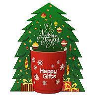 Коробка-украшение для чашки( D=9 см) в виде елки, белый, , 21018_big