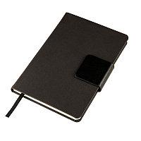 Ежедневник недатированный Stevie, А5, черный, кремовый блок, без обреза, Черный, -, 24706 35