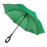 Зонт-трость HALRUM, пластиковая ручка, полуавтомат, Зеленый, -, 345706 15