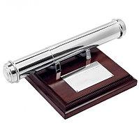 Тубус для наградных бумаг, коричневый, серебристый, , 6632