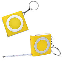 Брелок-рулетка (1м) с фонариком, Желтый, -, 14016 03