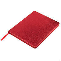 Ежедневник недатированный Arti, B6+, красный металлик, блок в клетку, красный обрез, Красный, -, 24711 08