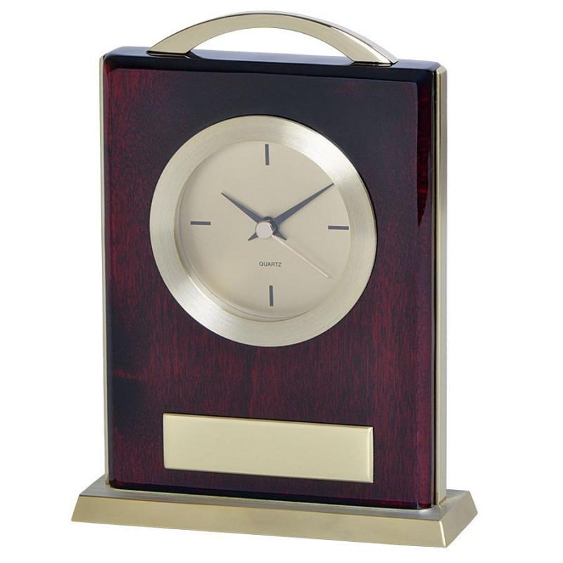 """Часы настольные """"Министр""""  с шильдом, золотистый, коричневый, , 13102"""