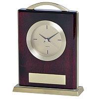 """Часы настольные """"Министр""""  с шильдом, золотистый, коричневый, , 13102, фото 1"""