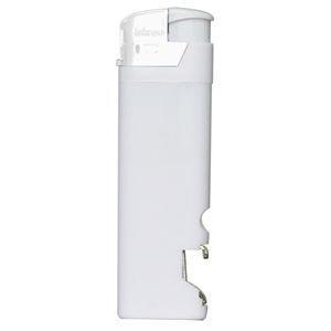 Зажигалка пьезо ISKRA с открывалкой, Белый, -, 14910 01