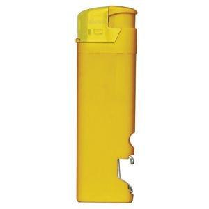 Зажигалка пьезо ISKRA с открывалкой, Желтый, -, 14910 03