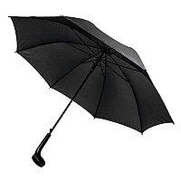 Зонт-трость LIVERPOOL с ручкой-держателем, полуавтомат, черный, , 7437