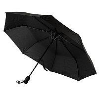 Зонт складной MANCHESTER, полуавтомат, черный, , 7439