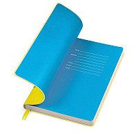 """Бизнес-блокнот """"Funky"""" A5,  желтый с голубым  форзацем, мягкая обложка, в линейку , Желтый, -, 21209 03 22, фото 1"""