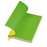 """Бизнес-блокнот """"Funky"""" A5, желтый с зеленым форзацем, мягкая обложка, в линейку, Желтый, -, 21209 03 15, фото 1"""