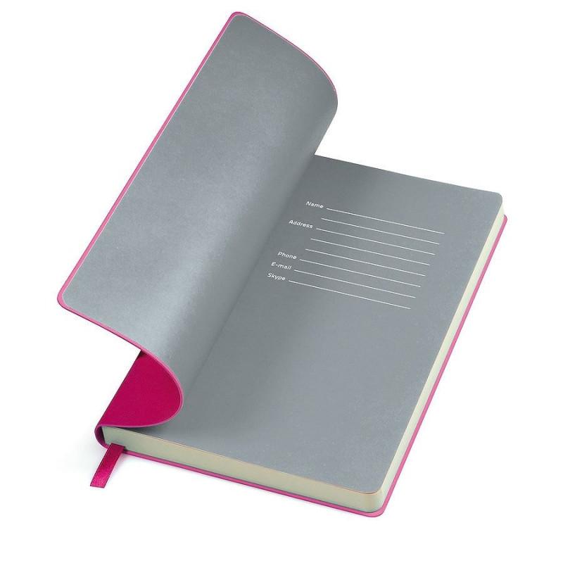 """Бизнес-блокнот """"Funky"""" А5,  розовый с серым форзацем, мягкая обложка, в линейку , Розовый, -, 21209 10 30"""