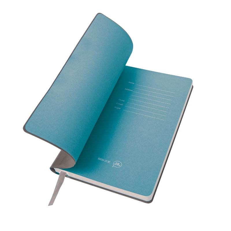 """Бизнес-блокнот  """"Funky"""" А5, с цветным  форзацем, мягкая обложка,  в линейку, Серый, -, 21209 30 22"""