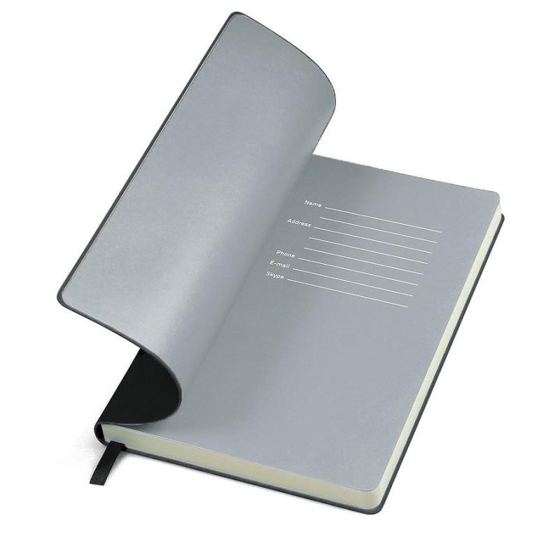 Бизнес-блокнот FUNKY, формат A5, в линейку, Черный, -, 21209 35 30