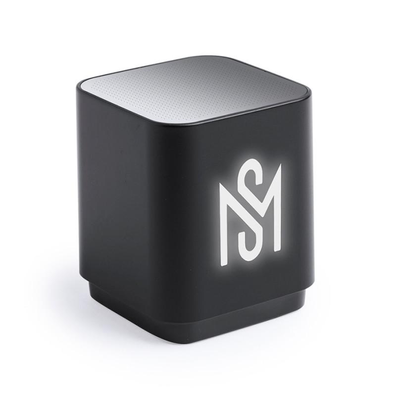 Портативная Bluetooth-колонка LUNEM с подсветкой, пластик, черный, , 346132