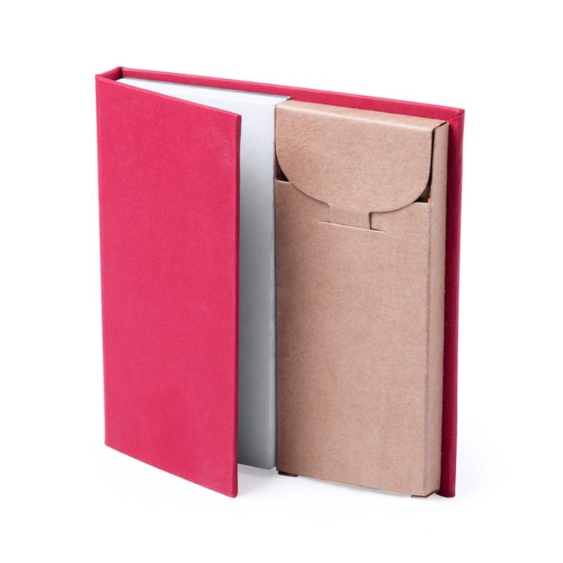 Набор LUMAR: листы для записи (60шт) и цветные карандаши (6шт), Красный, -, 345997 08