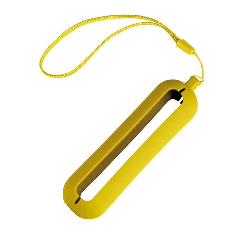 Обложка с ланъярдом к зарядному устройству SEASHELL-1, Желтый (Pantone 106C), -, 25300 03