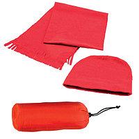 Флисовый набор WINTER шапка и шарф в чехле, Красный, -, 343212 08