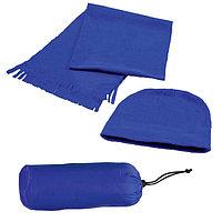 Флисовый набор WINTER шапка и шарф в чехле, Синий, -, 343212 24