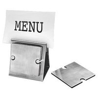 """Набор """"Dinner"""":подставка под кружку/стакан (6шт) и держатель для меню, серебристый, , 3148"""