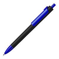 Ручка шариковая FORTE SOFT BLACK, покрытие soft touch, Синий, -, 605G 136